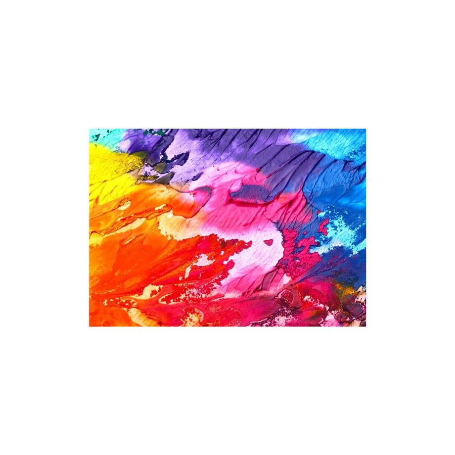 Cuadro abstracto colorido textura plumas