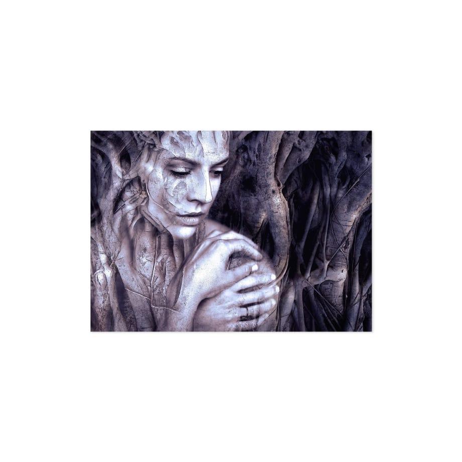 Cuadro abstracto mujer mística