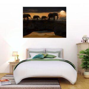Cuadro familia elefantes