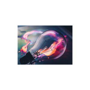 Cuadro bombilla colorida