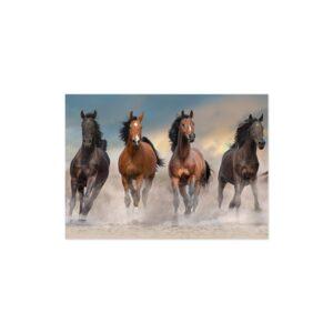 Cuadro caballos corriendo