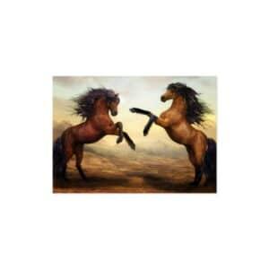 Cuadro caballos marrones