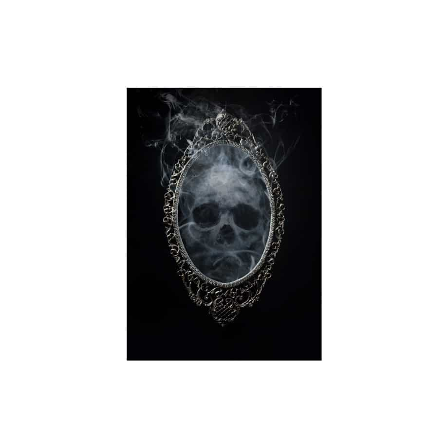 Cuadro calavera espejo