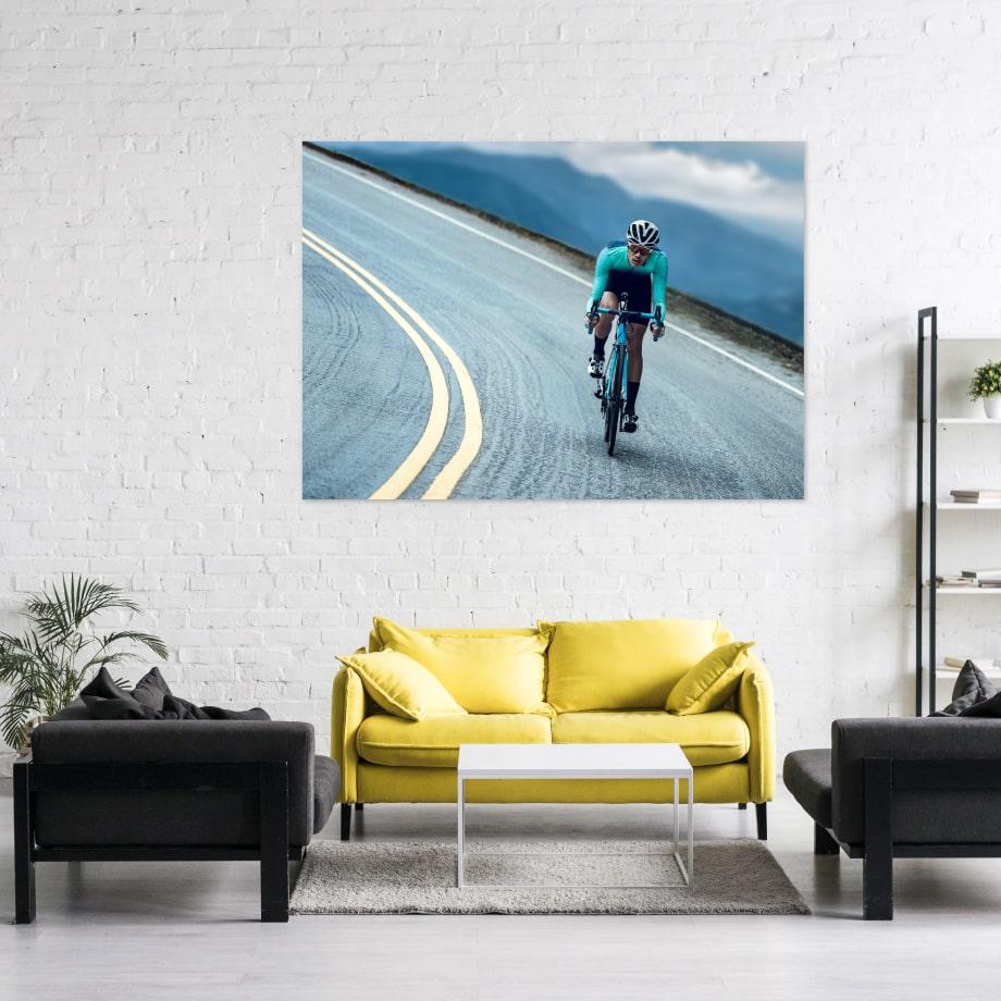 Cuadro cima en bicicleta