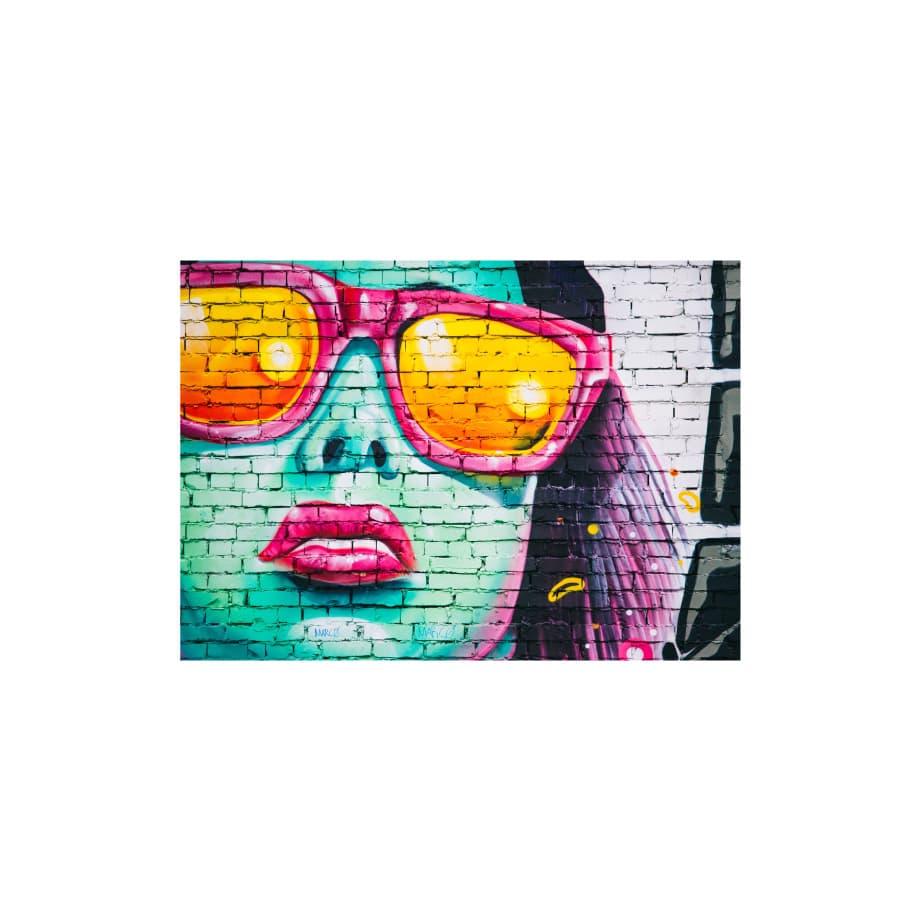 Cuadro grafiti rostro