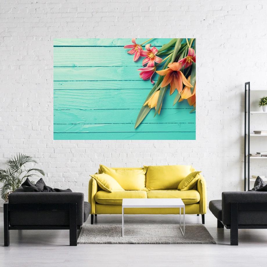 Cuadro tulipanes flores decorativo