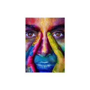 Cuadro face colorido