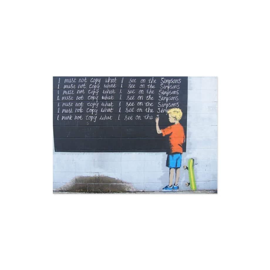 Cuadro graffiti niño