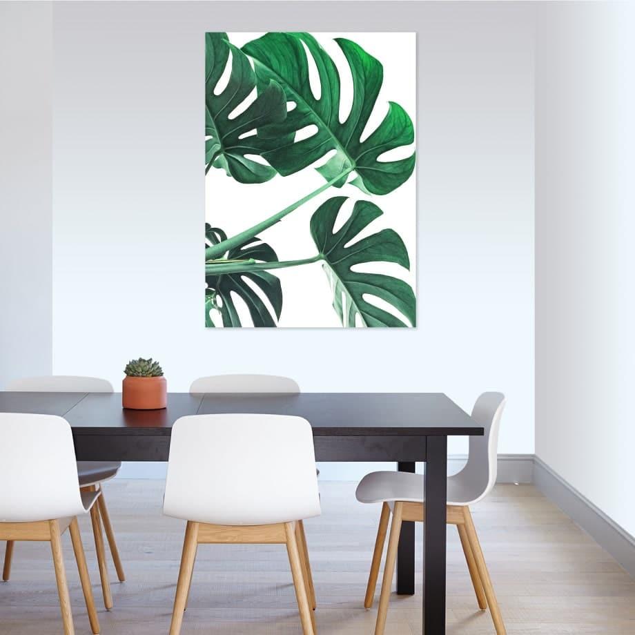 Cuadro hojas verdes 2