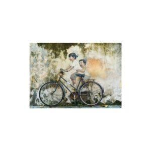 Cuadro niños en bicicleta