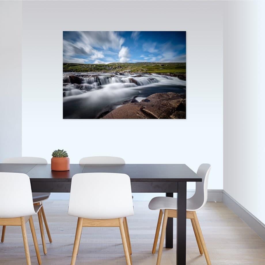 Cuadro paisaje rio
