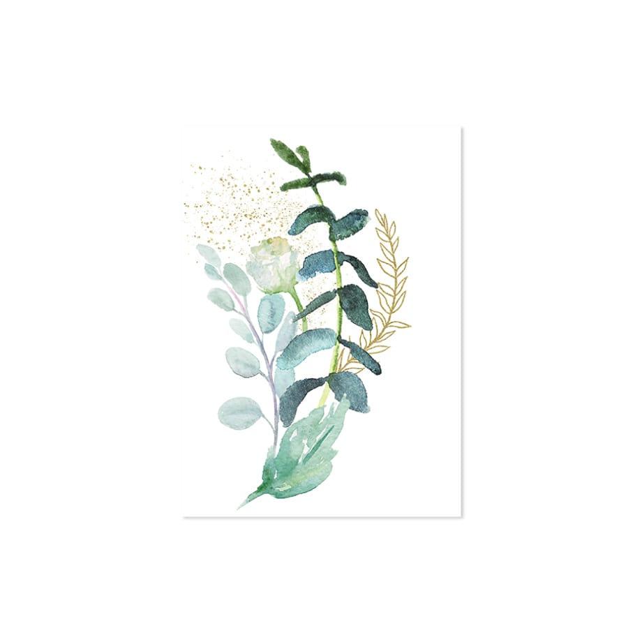 Cuadro acuarela plantas parte 2