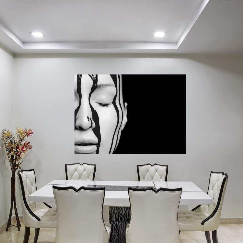 Cuadro en blanco y negro rostro