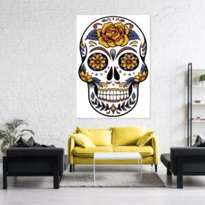 Cuadro Skull colorido