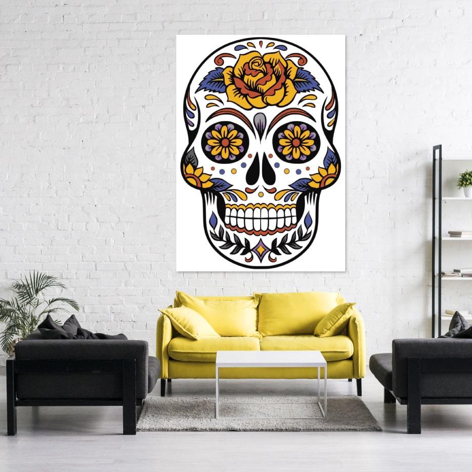 Cuadro Skull colorida